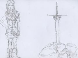 Nordic woman and sword by Swiftlook