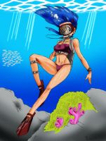 Dragonball Bulma Scuba Color by DaStigy