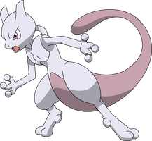 150 Mewtwo - BW Style by PkLucario