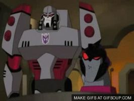 Megatron Slap Starscream by Britishlova