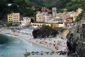 Beach at Monterosso al Mare 3 by wildplaces