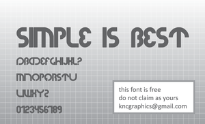simple is best font by KNCgraphics