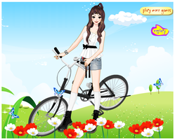 Bike Riding Girl Dress-up Game by willbeyou