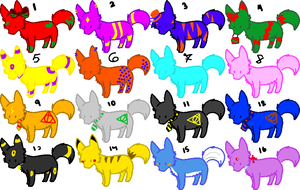 Wolf Adoptables 1 OPEN by nostalicDreamer