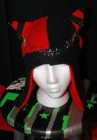 Red and Black Kitty Hat by Hippojello