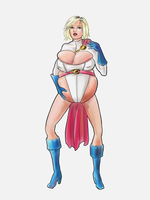 Power Girl Ready to Drop by ZFlash