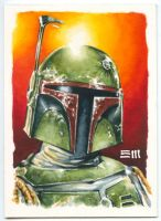 Boba Fett Sketch Card by Erik-Maell
