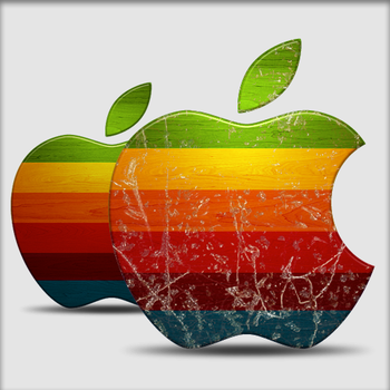Weathered Apple Icon by Stratification