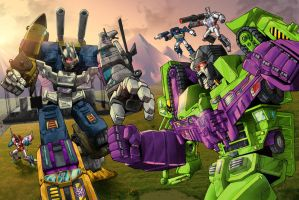 Bruticus vs Devastator - Contest Iacon 2015 by gwydion1982