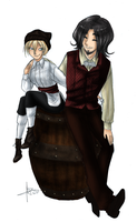 The Thief And The Doctor - version couleur - by Alizarinna
