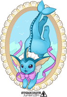 Vector - Vaporeon Stitch by firstfear