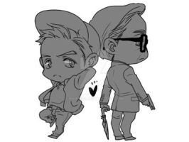 Kingsman: the secret service - Harry + Eggsy by krings2