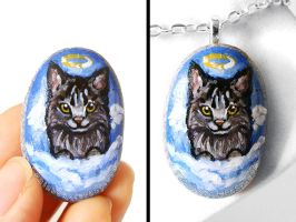 Maine Coon Pendant Necklace by sobeyondthis