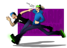 RUUUUUUUN! ft Markiplier and Jacksepticeye by xOtakuStarx