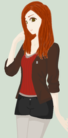 Amy Pond by Cybastien