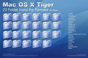 Mac OS X Tiger Folder Remake by ExtendedCreativity