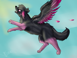 ~ I fly towards the paradise ~ by Kittenpaintcat