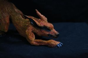 Updated pic of my old Kyuubi from Naruto sculpture by RavendarkCreations