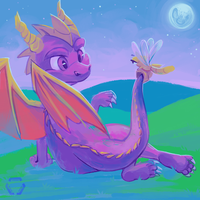 Spyro (redraw) by mechanical-resonance