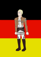 Hetalia / Attack On Titan Crossover - Germany by IrkenFundip