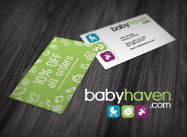 Babyhaven.com Business Card by chykalophia