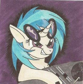 Vinyl Scratch Sticky Note like #4 by AgentEvans