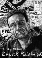 Chuck Palahniuk by magnetic-eye