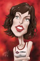 Milla Jovovich by monx-art