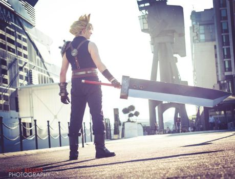 Cloud Strife - Sector 1 Reactor by SketchMcDraw
