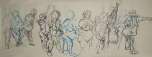 life drawing action sequence by PaulMacManus