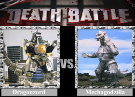 DEATH BATTLE! Idea: Dragonzord VS Mechagodzilla by Powershade117