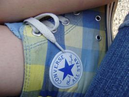 Blue and yellow converse by laurennn3