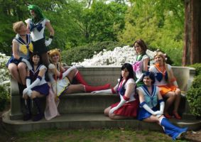 Close Up Senshi Moon Bench by NocturnAlice66