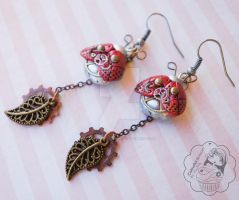 Red Clockwork Bugs by colourful-blossom