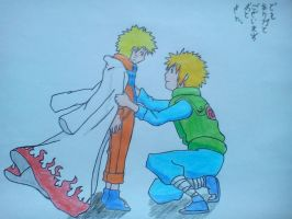 Naruto and Minato by RYANBOIRDRLAWDS
