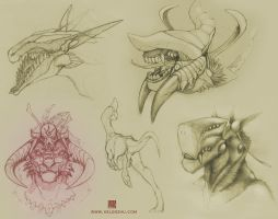 Creature Designs by Spiralfish