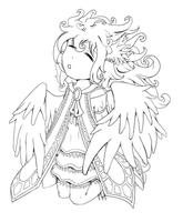 Chibi Angel - Lineart by Rose-kiss