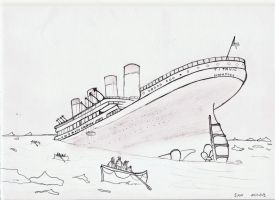Titanic sketch by Sam-wyat