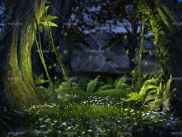 Spring Fireflies 2 by Trisste-stocks