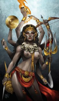 KALI THE GODDESS OF TIME AND DESTRUCTION by d-breeze