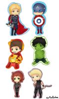 The Avengers Keychain Set by xxMiniPandaxx
