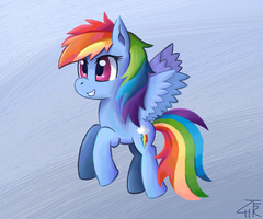 Painted Rainbow Dash by wildberry-poptart