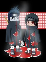 Itachi and Kisame by kuroi-ame