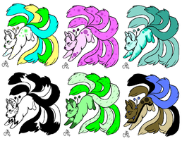 Kitsune Adopts .:OPEN:. by Mistedmoon-butts