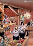 Button Popping Bar Maid Busts by expansion-fan-comics