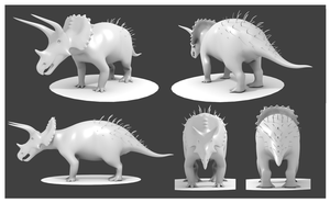 Triceratops Model by Julio-Lacerda