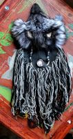 Silver Fox Headdress by lupagreenwolf