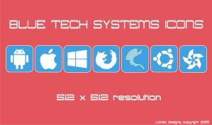 Blue Tech Systems Icons by Lianso