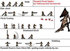 Pyramid Head Sprite Sheet by Yukimaru-kun