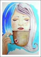 It's time for tea. - Watercolor. by AirelavArt